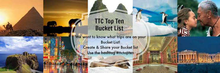 The Travel Corporation Top 10 Bucket list